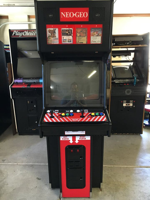 NEO-GEO MVS2-4 & 6 Big Red- Front Art with arrows.