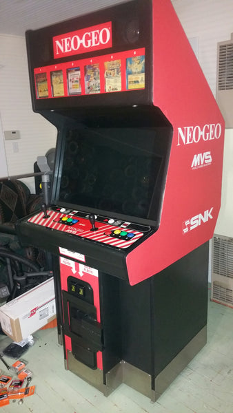 NEO-GEO MVS2-4 & 6 Big red Front art with arrows.