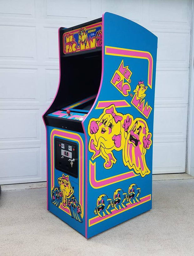 Ms. Pacman- Sides and Front Art