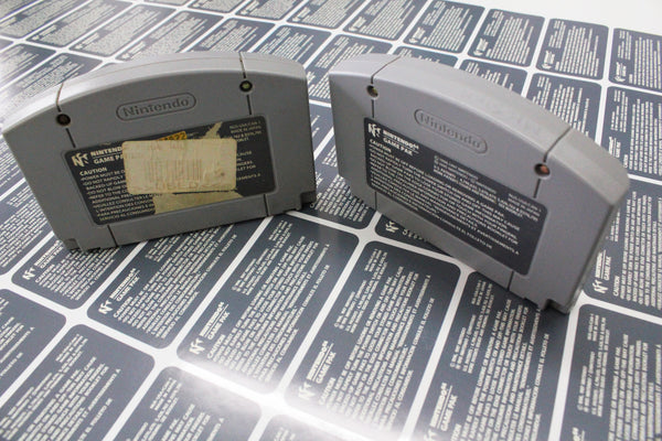 N64 rear replacement labels