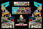 Custom Konami Multi Art-complete full set-Simpsons, X-Men & TMNT