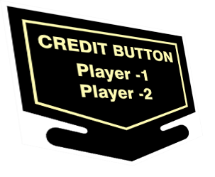 Nintendo Credit free play button decal