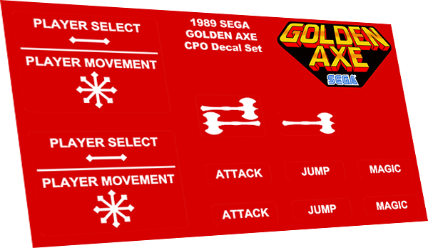 Golden Axe overlay decals