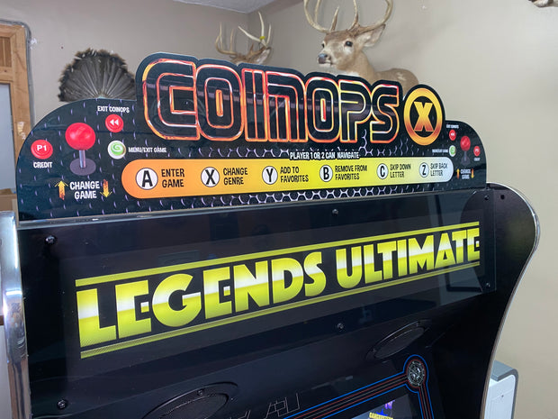 Legends Ultimate CoinOps X topper