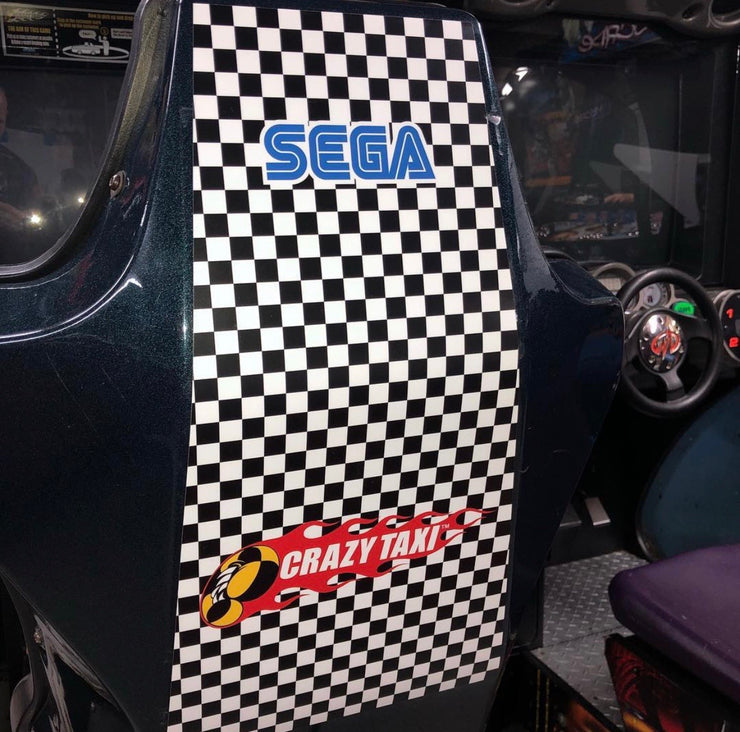Crazy Taxi rear seat decal