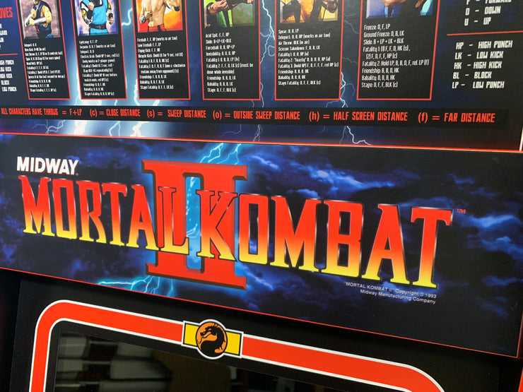 Mortal Kombat 2 Arcade 1up marquee