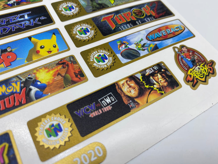 N64 Players Choice end labels.