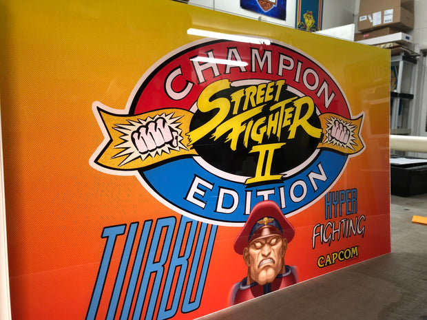 Street Fighter 2 Championship edition- Turbo Hyper Fighting Marquee