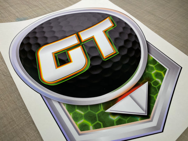 Golden Tee 2020 front decal
