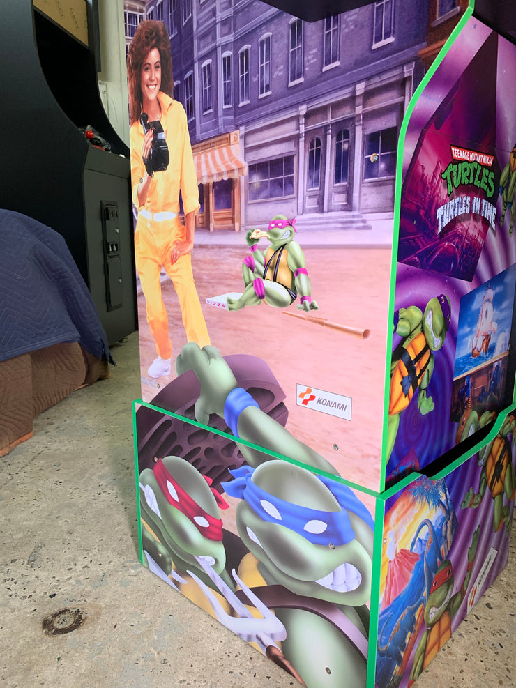 Arcade1up custom TMNT and Turtles in time combo art