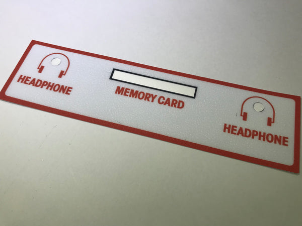 NEO-GEO memory Card and Head Phone Decal