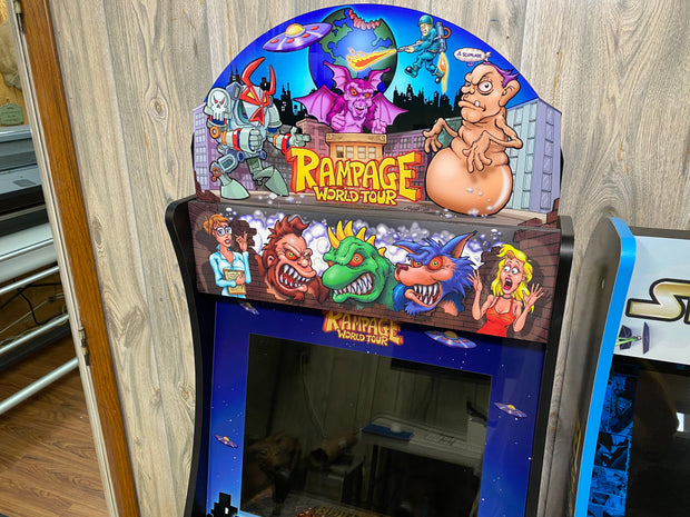 Arcade 1up Rampage World Tour Topper