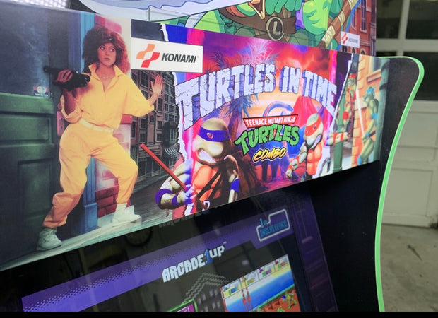 Arcade 1up Tmnt combo marquee