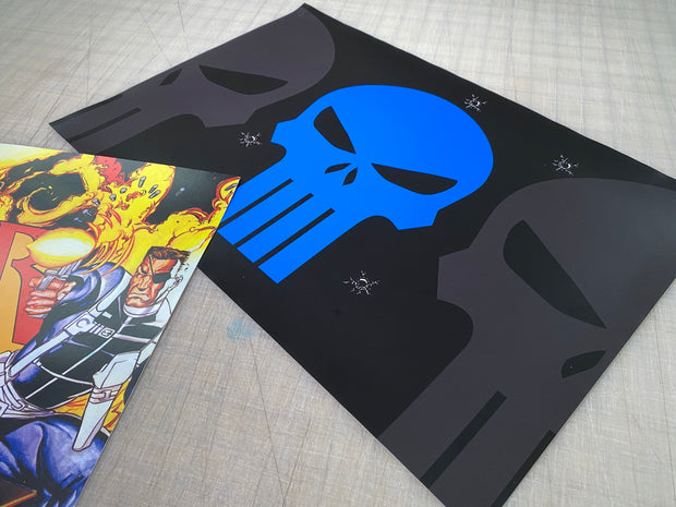 Arcade 1up The Punisher riser art