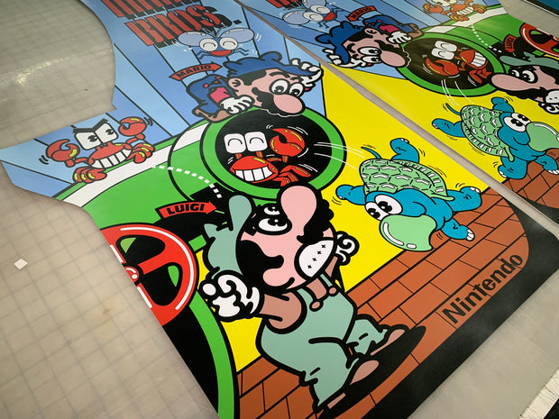 Arcade 1up MARIO Brothers side art