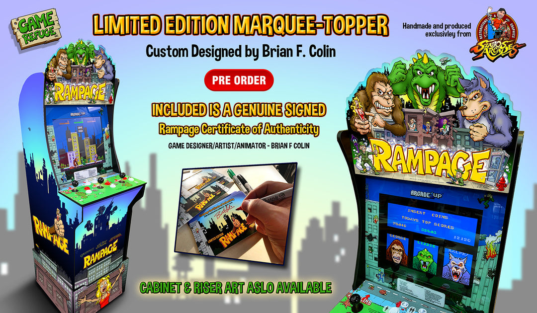 Arcade 1up Rampage Topper Szabo S Arcades