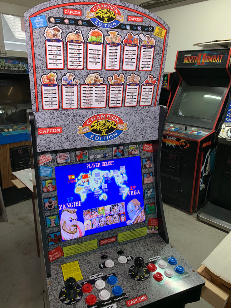 Street fighter 2 champion edition 1up marquee