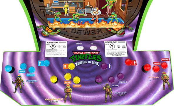 Arcade 1up  Turtles in Time orginal art kit