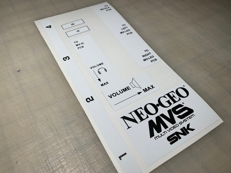 NEO GEO PCB cage stickers