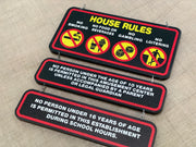 1/4 scale House Rules Signs