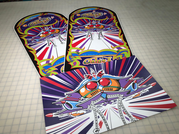 Galaga Side and Front Art