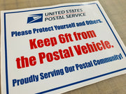 USPS Saftey Vehicle decal