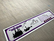Castlevania Instruction decal