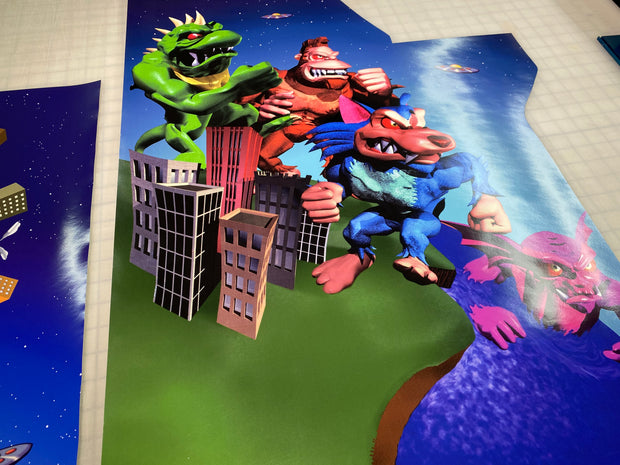 Arcade 1 up Rampage World Tour full art kit