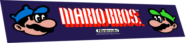 Mario Brothers wide body marquee