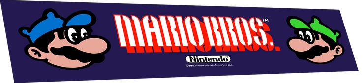Mario Brothers Marquee (wide body)