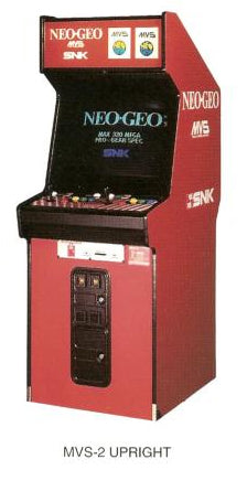 Neo Geo Large memory card decal for MVS-2 cabinet