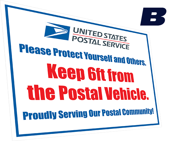 USPS Safety Vehicle decal
