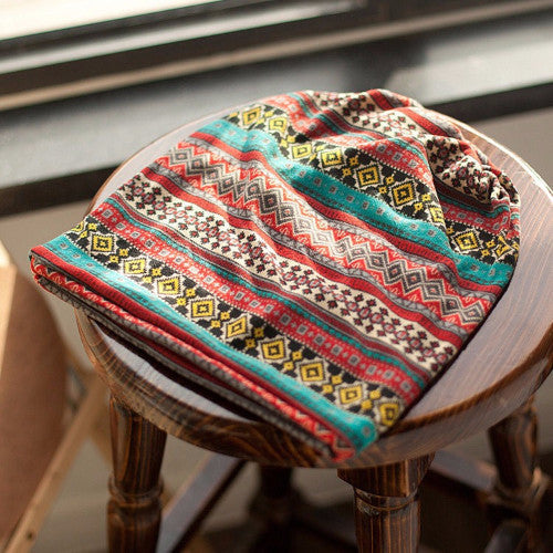 Aztec Printed Colorful Boho Beanie