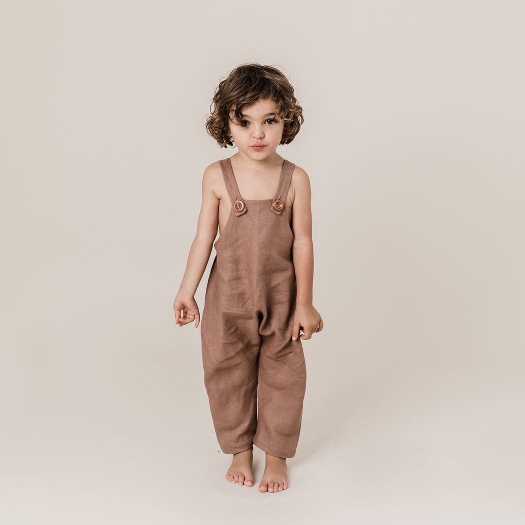 Parker Overalls in Coco