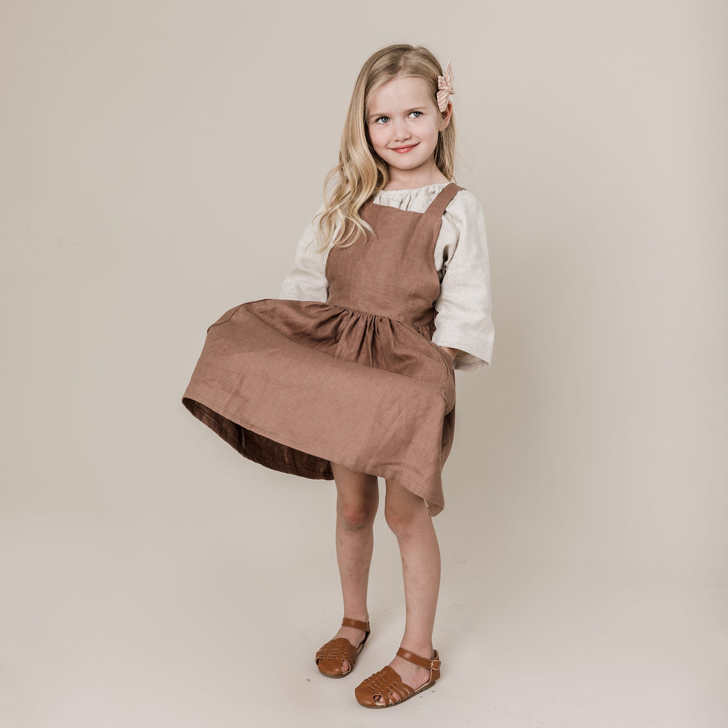 Willow Pinafore in Coco