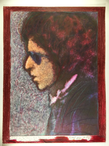 Bob Dylan, Blood on the Tracks, 40th Anniversary, 18/50 hand coloured 13X17 Digital Print