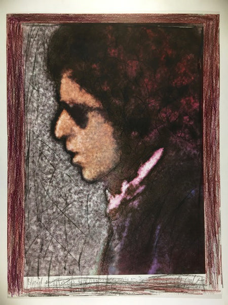 Bob Dylan, Blood on the Tracks, 40th Anniversary, 15/50hand coloured 13X17 Digital Print