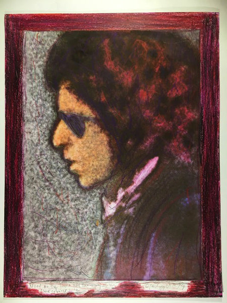 Bob Dylan, Blood on the Tracks, 40th Anniversary, 16/50hand coloured 13X17 Digital Print