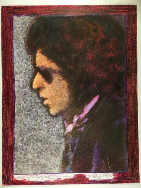 Bob Dylan, Blood on the Tracks, 40th Anniversary, 17/50 hand coloured 13X17 Digital Print