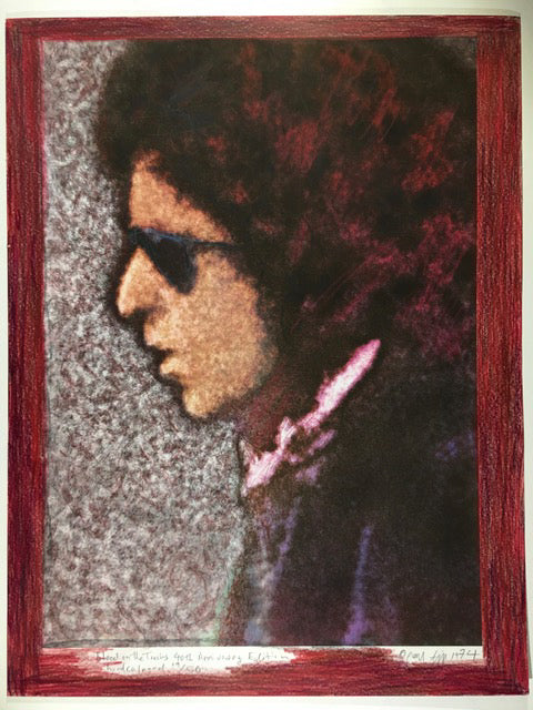 Bob Dylan, Blood on the Tracks, 40th Anniversary, 19/50 hand coloured 13X17 Digital Print