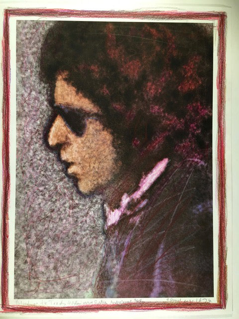 Bob Dylan, Blood on the Tracks, 40th Anniversary, 20/50 hand coloured 13X17 Digital Print