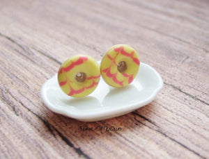Party Ring Stud Earrings - Choose Your Colour - SweetsOfMyOwn