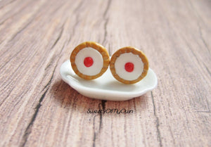 Cherry Bakewell Cake - Stud Earrings - MTO