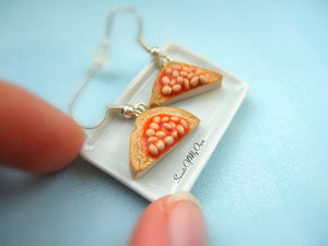 Beans on Toast Slice - Dangle Earrings - MTO