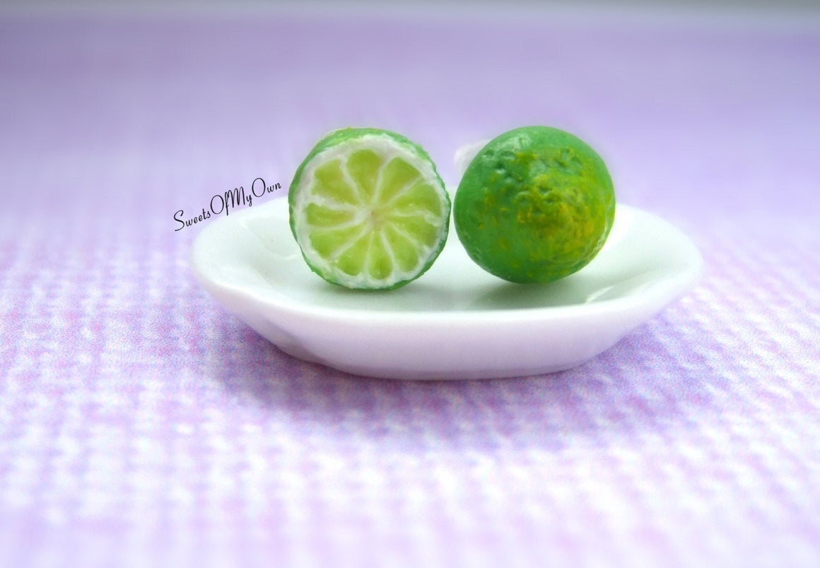 Lime Front and Back - Stud Earrings - MTO