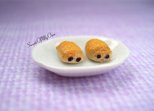 Pain Au Chocolate Stud Earrings - SweetsOfMyOwn