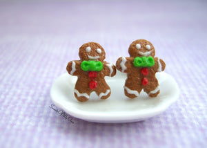 Gingerbread Men Earrings Stud Earrings - SweetsOfMyOwn