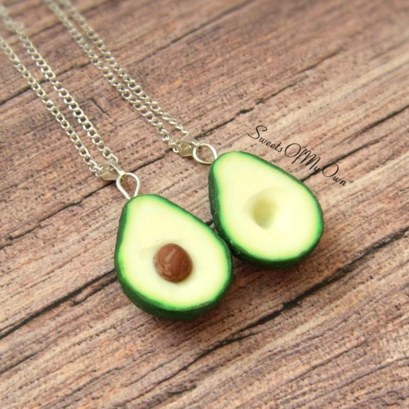 Avocado BFF Charms - Set of 2 Halves - SweetsOfMyOwn