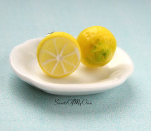 Lemon Front and Back - Stud Earrings - MTO
