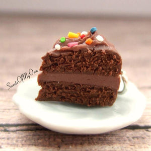 Chocolate Cake with Sprinkles Charm
